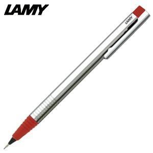 シャーペン 高級 名入れ ラミー ロゴ ステンレス ペンシル レッド L105RD|nomado1230