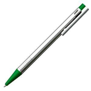 高級 ボールペン 名入れ ラミー ロゴ ステンレス ボールペン グリーン L205GN|nomado1230