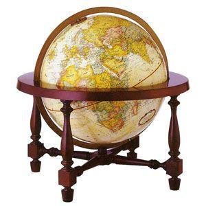 地球儀 インテリア リプルーグル クラシック 球径30センチ コロニアル型 インテリア地球儀 英語版 No. 31700 nomado1230