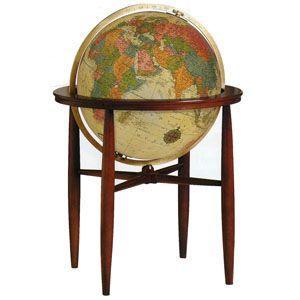 地球儀 インテリア リプルーグル ファンレイ型 球径50センチ 英語版 照明付き 高級大型地球儀 アンティーク No. 65032|nomado1230