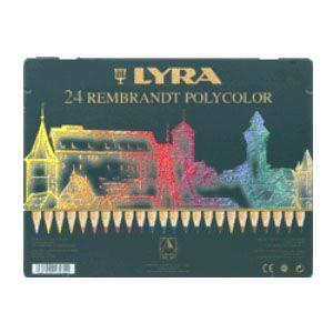リラ(LYRA) レンブラント ポリカラー 24色セット (メタルボックス) No. 2001240|nomado1230