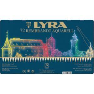 リラ(LYRA) レンブラント アクアレル 72色セット (メタルボックス) No. 2011720|nomado1230