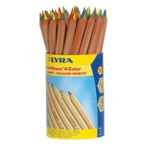 リラ(LYRA) 4色鉛筆 太軸タイプ 36本入り ドラムDP入り No. 3933365 nomado1230