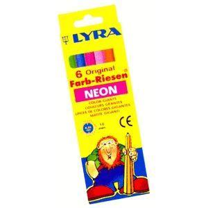リラ(LYRA) カラー ジャイアント 6色(蛍光色)セット (紙箱入り) No. 3941063|nomado1230