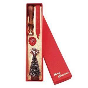 ギフト ルビナート クリスマスライン ウッディーハンドル 真鍮製シール シーリングセット MC-03|nomado1230