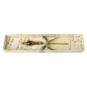 ガラスペン ルビナート カラーライン オリーブグリーン ガラスペン しずく・160ミリ 15-LEOOG|nomado1230