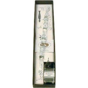 ガラスペン セット ルビナート ガラスペン ロング ミニインク 9cc セット クリア 7343(Clear)|nomado1230