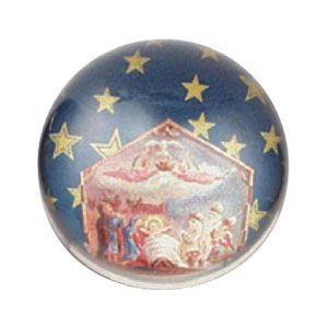 ペーパーウェイト おしゃれ ルビナート クリスマスライン 半球型 ブルー ペーパーウェイト ミディアム PWM-MC/01|nomado1230