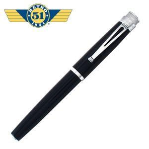 万年筆 名入れ レトロ51 トルネード クラシック ブラック ラッカー アクリル 万年筆 ARF-1841|nomado1230