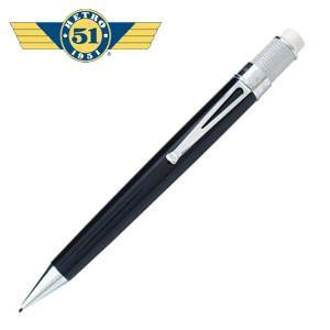 シャーペン 高級 名入れ レトロ51 トルネード クラシック ブラック ラッカー アクリル ペンシル VRP-1301|nomado1230