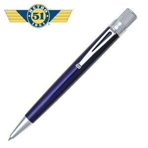 ローラーボール 名入れ レトロ51 トルネード クラシック ブルー ラッカー ローラーボール or 油性ボールペン VRR-1307|nomado1230