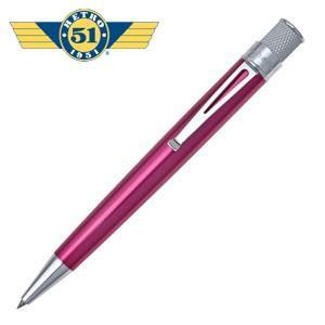 ローラーボール 名入れ レトロ51 トルネード クラシック ピンク ラッカー ローラーボール or 油性ボールペン VRR-1313|nomado1230