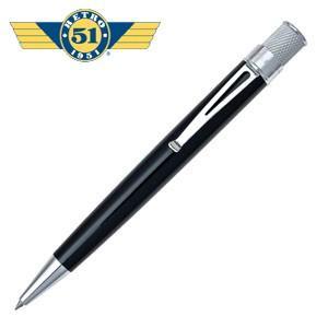 ローラーボール 名入れ レトロ51 トルネード クラシック ブラック ラッカー ローラーボール or 油性ボールペン VRR-1301|nomado1230