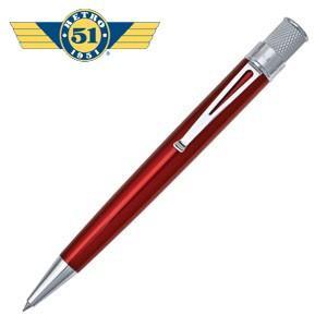 ローラーボール 名入れ レトロ51 トルネード クラシック レッド ラッカー ローラーボール or 油性ボールペン VRR-1308|nomado1230