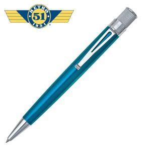 ローラーボール 名入れ レトロ51 トルネード クラシック ピーコック ラッカー ローラーボール or 油性ボールペン VRR-1309|nomado1230