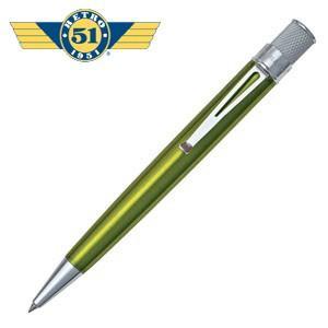 ローラーボール 名入れ レトロ51 トルネード クラシック キウィ ラッカー ローラーボール or 油性ボールペン VRR-1311|nomado1230