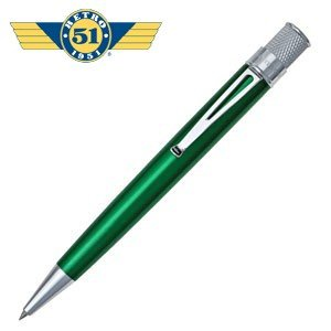 ローラーボール 名入れ レトロ51 トルネード クラシック グリーン ラッカー ローラーボール or 油性ボールペン VRR-1314|nomado1230