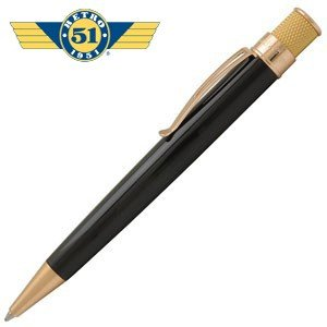 高級 ボールペン 名入れ レトロ51 ゴールドライン トルネード ボールペン ブラック/ゴールド VRR-G1301|nomado1230