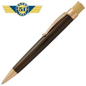 レトロ51 ゴールドライン トルネード ボールペン ブラウン/ゴールド VRR-G1304|nomado1230