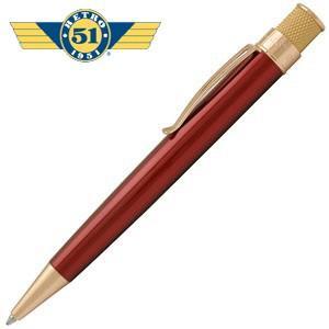 高級 ボールペン 名入れ レトロ51 ゴールドライン トルネード ボールペン レッド/ゴールド VRR-G1308|nomado1230