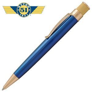 高級 ボールペン 名入れ レトロ51 ゴールドライン トルネード ボールペン ピーコック/ゴールド VRR-G1309|nomado1230