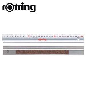 製図用品 ロットリング アルミ直定規 スベリ止め付30センチ 製図用品 N90030|nomado1230
