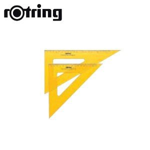 製図用品 ロットリング 三角定規2枚組 36センチ目盛付 製図用品 No. 815336|nomado1230