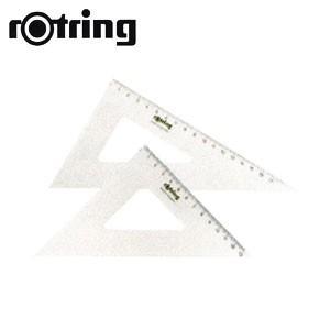 製図用品 ロットリング セントロ三角定規2枚組 30センチ 製図用品 R823530|nomado1230