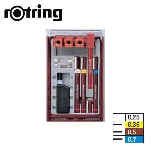 ロットリング イソグラフIPLセット 4本セット ISO線幅 製図ペン SO202940|nomado1230