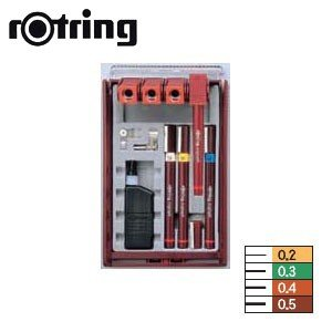製図用品 ロットリング イソグラフIPLセット 4本セット 一般線幅 製図ペン S0226890|nomado1230