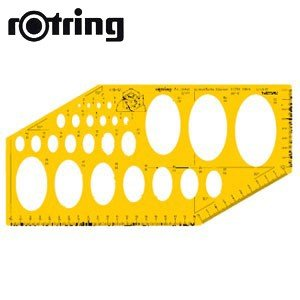 製図用品 ロットリング コンピ定規 立体 テンプレート 製図用品 SO238021|nomado1230