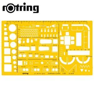 製図用品 ロットリング 建築・インテリア定規 建築組合せ テンプレート 製図用品 SO238711|nomado1230