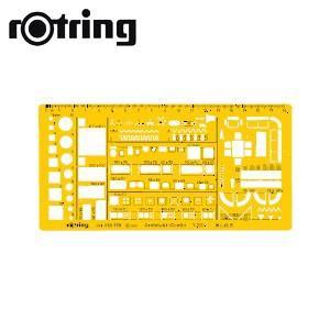 製図用品 ロットリング 建築・インテリア定規 建築組合せ テンプレート 製図用品 SO238781|nomado1230