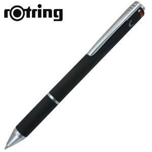 高級 マルチペン 名入れ ロットリング トリオペン 多機能ペン ブラック No. 1904453|nomado1230
