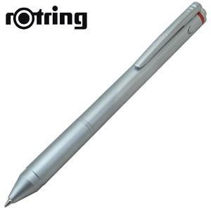 高級 マルチペン 名入れ ロットリング トリオペン 多機能ペン シルバー No. 1904454|nomado1230