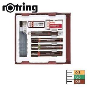 製図用品 ロットリング イソグラフIPLセット カレッジセット 一般線幅 製図ペン S0699370|nomado1230