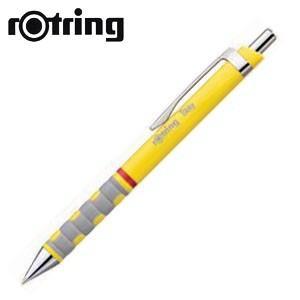 高級 ボールペン ロットリング ティッキーRD 製図用ボールペン 12本セット イエロー No. 1904742|nomado1230