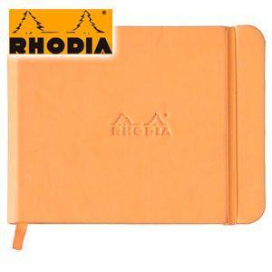 ノート ロディア WEBNOTEBOOK ウェブノートブック Landscape14×11ドット 3冊セット オレンジ cf118018|nomado1230