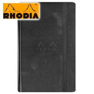 ノート A6 横罫 ロディア WEBNOTEBOOK ウェブノートブック 横罫 A6 3冊セット ブラック CF118069|nomado1230