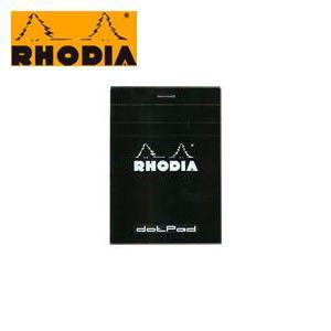 ブロックメモ 方眼 ロディア ブロックロディア ドットパッド ブラック No.12 5ミリ方眼 9冊+1冊サービスセット cf12559|nomado1230