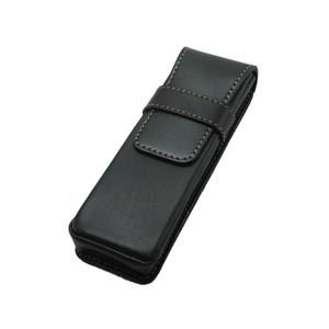 リオン グローブ革 ペンシース 2本用 (ブラック) 301CFSBK|nomado1230