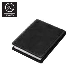 レポートパッド 革 ロメオ(ROMEO) ブロックロディア11200 10冊セット付き オイルキップ Sサイズ メモパッド ブラック R04SET|nomado1230