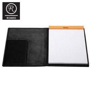 レポートパッド 革 ロメオ(ROMEO) オイルキップ Mサイズ メモパッド ブラック R05|nomado1230