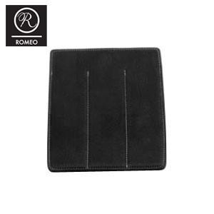 ペンケース 革 名入れ ロメオ(ROMEO) オイルキップ 3本差し 万年筆ケース ブラック R09|nomado1230