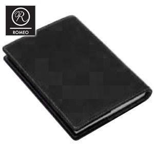 ブックカバー おしゃれ 革 ロメオ(ROMEO) オイルキップ ブックカバー ブラック R16|nomado1230