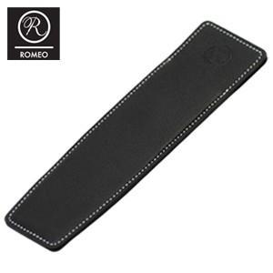 ペンケース 革 名入れ ロメオ(ROMEO)オイルキップ 牛革レザー 1本用 ペンケース ブラック R-17|nomado1230