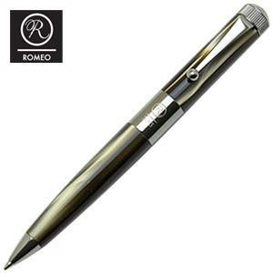 ROMEO ボールペン 名入れ ロメオ(ROMEO) No.3 ボールペン 細軸 マーブルグレイ/ガンメタル R-234|nomado1230