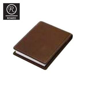 レポートパッド 革 ロメオ(ROMEO) ブロックロディア11200 10冊セット付き オイルキップ Sサイズ メモパッド ブラウン RB04SET|nomado1230