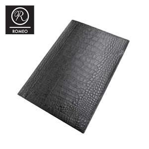 レポートパッド 革 ロメオ(ROMEO) クロコ型押し Lサイズ メモパッド 黒 RLC06BK|nomado1230