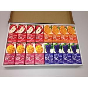 ★果汁100%ジュースギフトセット(化粧箱入り) エルビーフルーツセレクション16本セット(4種類×4本)|nomimon